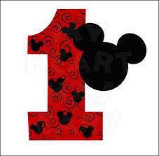 mickey mouse 1st birthday mickey mouse 1st birthday instant digital clip my
