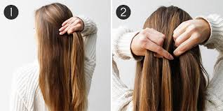 2 braids in front hair down hairstyle long natural hair boho braid how to create an effortlessly chic half updo more com