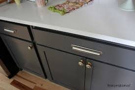 how to paint kitchen knobs kitchen cabinet colors before after the inspired room