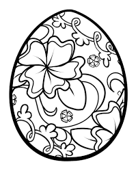 easter coloring pages and egg free printable eson me