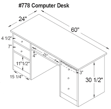 Computer Desk Depth Computer Desk Depth Amish False Drawer Computer Desk White
