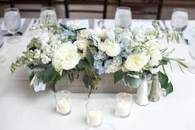 baby shower arrangements for table baby boy flower centerpieces serenity blue floral table centerpiece