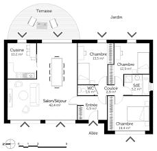plan maison une chambre découvrez 5 plans de maisons de 100m et les plans de masse