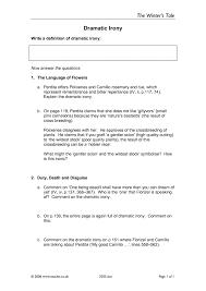 Irony Worksheet Ks5 The Winter U0027s Tale Teachit English