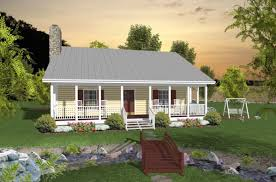 house plans with porches on front and back 2 bedroom 1 bath vacation house plan alp 026h allplans com