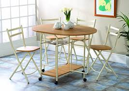 Folding Dining Table With Chair Storage Folding Dining Table And Chairs Dining Table With Storage Space