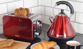 Red Kettle And Toaster Igenix Kettle And Toaster Groupon Goods
