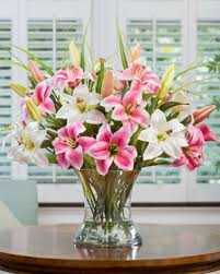 large silk flower arrangements for office and home interiors at