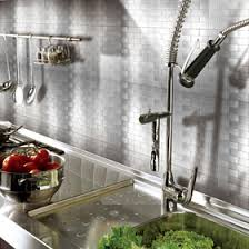 Metallic Tile Backsplash by Peel And Stick Metal Tiles Metal Backsplash Tiles For Kitchen