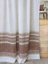 White And Gold Curtains White And Gold Curtain Panels India Inspired Sari Panels Cotton