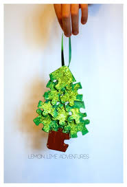 the missing recycled puzzle ornaments