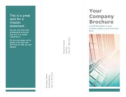 brochure templates for microsoft word free brochure template word