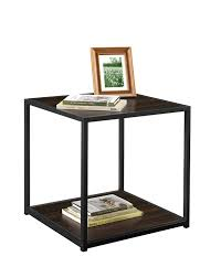 amazon com altra canton cave end table with metal frame espresso