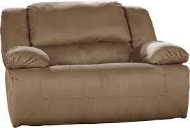 Ashley Recliners Hogan Mocha 0 Wall Recliner W Wide Seat Box By Ashley Furniture