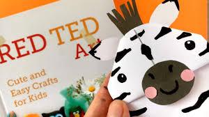 easy zebra bookmark diy animal corner bookmark designs youtube