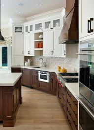 small upper kitchen cabinets dark lower cabinets white upper kitchen transitional with glass