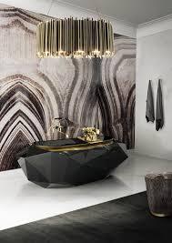 unique bathroom ideas bathroom black bathtub unique modern hanging light towel