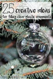 diy idea a of tinsel inside a clear bulb ornament diy