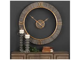 modern wall clocks uttermost clocks alphonzo modern wall clock dunk u0026 bright