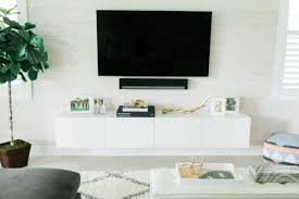 ikea console hack ikea hack diy floating tv console palm beach lately