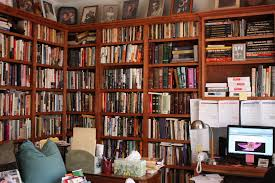 Design Your Own Home Library | marvelous building a home library with brown wooden wall bookshelf