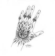hand compass tattoo design by senblee watch designs interfaces