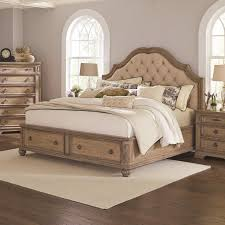 Bedroom Collections Furniture Ilana Collection 205070 Traditional Upholstered Storage Bedroom