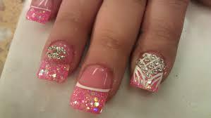 elegant pink nail art tutorial perfect for short nails youtube
