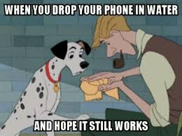 Wet Meme - monday memes wet cell phones modern mouse radio