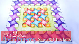how to draw simple geometric patterns stars and squares youtube