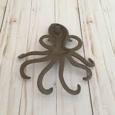 cast iron octopus wall decor