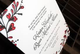 Red And Black Wedding Invitations Kristen Ryan U0027s Red And Black New Year U0027s Eve Wedding Invitations