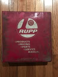 rupp products pricing parts service manual