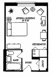 efficiency house plans one bedroom efficiency apartment plans amazing house plans
