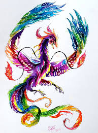phoenix colorful tattoo design photo 3 2017 real photo