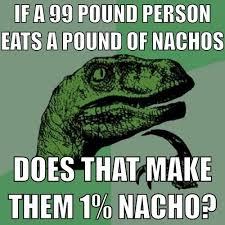 Philosoraptor Memes - philosoraptor meme eating a pound of nachos meme collection