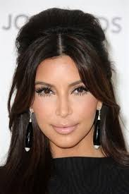hairstyles with bangs and middle part middle part bangs kim k vanity pinterest fringes bohemian