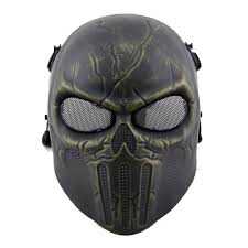 cool masks dc12 punisher skull cool airsoft mask bronze