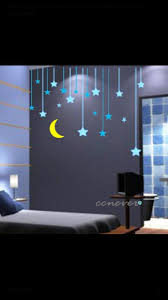 44 best wall decal ideas images on pinterest home wall stickers stars moon kids nurseryart graphic vinyl wall by ccnever