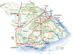 map uk villages new forest uk