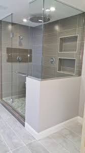 Bath Shower Tile Design Ideas Blue Subway Shower Tiles Frame Two White Glass Mini Brick Tiled