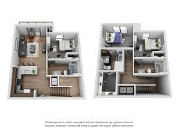 3 bedroom 3 bath floor plans 3 bed 3 bath apartment in arbor mi the yard
