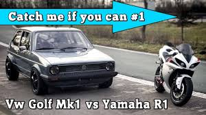 volkswagen golf modified video modified vw golf mk1 vs yamaha r1 the superbike loses