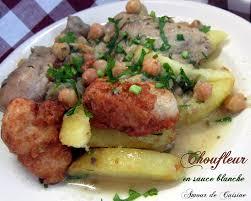 cuisine chou chou fleur en sauce blanche amour de cuisine