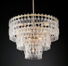 Industrial Crystal Chandelier Tiered Crystal Chains Chandelier