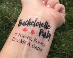 bachelorette temporary tattoos if lost buy me a drink kiss