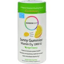 rainbow light vitamins mens rainbow light vitamin d sunny gummies sour lemon 1000 iu 50