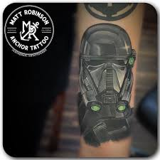 star wars rouge one death trooper tattoo by matt robinson of