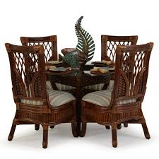 rattan and wicker dining set attractive leaders casual furniture