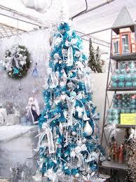 shining light blue decorations amazing trees decorating